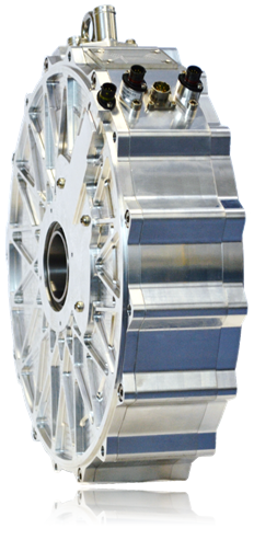 Axial Flux Permanent Magnet Motor from YASA at Center of
